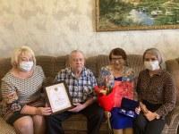 Памятную медаль «За любовь и верность» вручили семье Губиных  из с.Уйское
