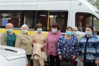 Работа мобильной бригады по доставке граждан старше 65 лет  на диспансеризацию
