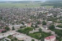 Центр села Уйское с высоты 2007 год